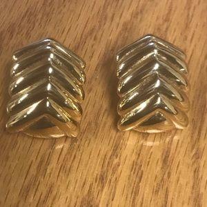 MONET Gold Tone Clip Earrings